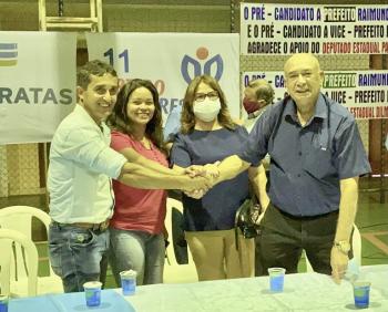 DEM e PP lançam pré-candidaturas de Raimundo e Professor Regivaldo a prefeito e vice