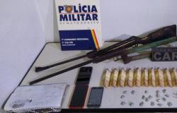 PM prende três suspeitos por tráfico de drogas e posse irregular de arma de fogo em Nova Olímpia
