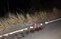 Homem é atropelado e tem cabeça esmagada por carro em rodovia de Tangará da Serra