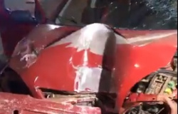 Motorista fica gravemente ferido após bater e derrubar poste em Tangará da Serra
