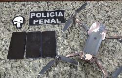 Polícia Penal captura drone que se preparava para arremessar celulares em presídio de Mato Grosso
