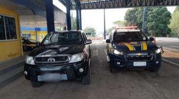 PRF recupera, em Cáceres, caminhonete roubada em Nortelândia no dia 12