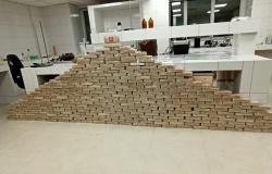 Ação conjunta apreende carreta carregada com 329 quilos de drogas