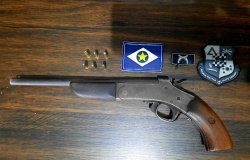 Mais uma arma de fogo é retirada de circulação em Denise pela Polícia Militar