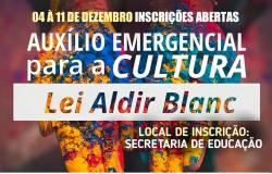 PANDEMIA: Nova Olímpia abre inscrições para acesso ao auxílio emergencial da Lei 'Aldir Blanc'
