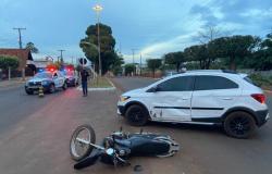 Motociclista fica ferido após ser fechado por carro na avenida Tancredo Neves, em Tangará