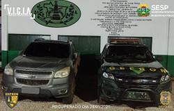 Gefron-MT recupera Chevrolet-S10 que foi roubada na cidade de Denise (com vídeo)