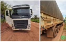 Caminhão roubado em Tangará após motorista ficar em cativeiro é recuperado em Jangada