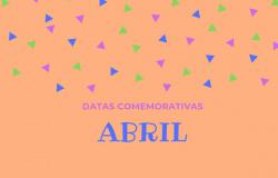 Datas comemorativas do mês de Abril