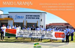 'MAIO LARANJA' - Assistência Social de Nova Olímpia inicia campanha contra abuso e exploração sexual infantil