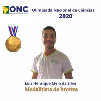 Jovem de Nova Olímpia conquista medalha em Olimpíada Nacional