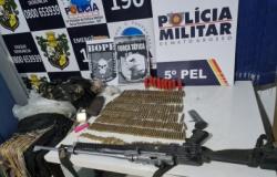 Caçada a ladrões de banco tem saldo de 2 mortos e apreensão de R$ 138 mil, armas e munições