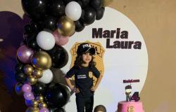 Polícia Comunitária prestigia aniversário de quatro anos de menina que sonha em ser policial civil
