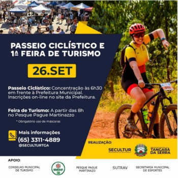 SECULTUR realiza Passeio Ciclístico e Feira para comemorar Dia Mundial do Turismo