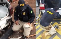 PRF apreende 38 kg de droga avaliada em mais de R$ 2 milhões e três são presos