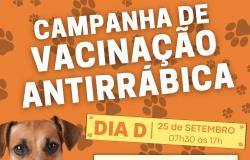Vacinação Antirrábica acontece neste sábado em pontos de vacinação