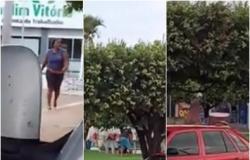 """Homem agriwde mulher com tijoladas; leva """"invertida"""" e é esfaqueado em MT; veja vídeo"""