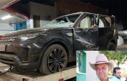 BARRA DO BUGRES: Empresário do agronegócio morre após capotagem com carro de luxo Land Rover na MT-343