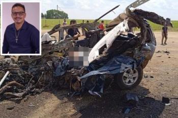 Vereador de MT morre ao colidir carro com carreta na BR-163