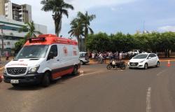 Mulher fica ferida após acidente na Av. Brasil