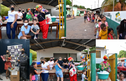 Nova Olímpia - Projeto Sementinhas fez alegria da criançada do bairro Aeroporto