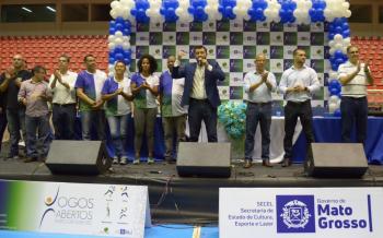 Abertura dos Jogos Abertos marca a retomada da competição no Estado