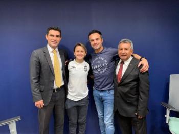 REI E RAINHA DO FUTSAL - Falcão e Amandinha, craques do futsal brasileiro visitam Mato Grosso e encontram Pedro Verão, presidente FMFS