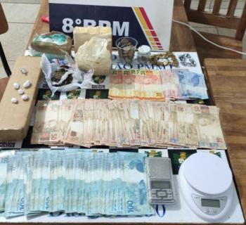 Alta Floresta: homem é detido com grande quantidade de entorpecentes e mais de R$ 11 mil em dinheiro