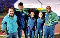 Brasil conquista medalha de prata no 4x400 m misto no Mundial da Polônia