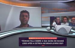 Primeiro técnico demitido do Brasileiro, Alberto Valentim fala sobre saída do Cuiabá
