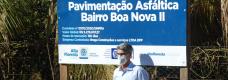 Lançamento do asfalto do Bairro Boa Nova II