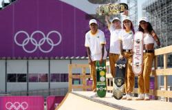 Treino histórico, primeiro do skate em Jogos, reúne atletas do Brasil no Ariake Sports Park