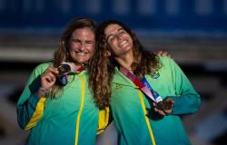 Velejadoras Martine Grael e Kahena Kunze são bicampeãs olímpicas na 49erFX
