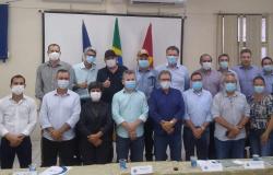 Osmar Moreira e os Prefeitos do CIDVAT recepcionam Governador Mauro Mendes e pontuam sobre demandas Regionais