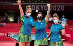 Tênis de mesa: brasileiras são bronze na disputa por equipes em Tóquio