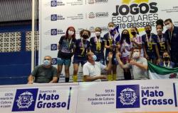 ESPORTE ESTUDANTIL - Voltar Equipes de Sorriso e Nobres são campeãs do futsal nos Jogos Escolares Mato-grossenses