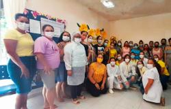 Setembro Amarelo: Unidade de Saúde realiza atividade com gestantes sobre saúde mental.