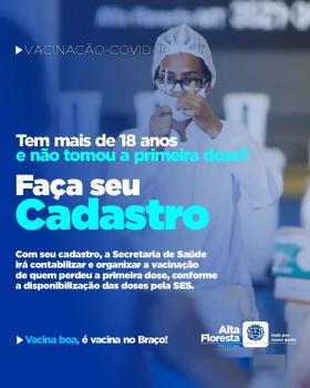 REPESCAGEM - Secretaria de Saúde cadastro para vacinação