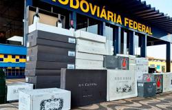 Mais de 700 garrafas de vinhos importados ilegalmente são apreendidas em Mato Grosso