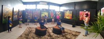 VIVÊNCIA - Estudantes visitam Galeria de Artes Inês Grade e conhecem obras de artistas locais