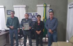 Prefeito Osmar e os prefeitos de Carlinda e Alta Floresta visitam de Cortesia ao 9º Comando Regional