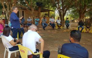 Prefeito Osmar Moreira, Secretários e Vereadores participam de reunião com a Coomasp para decidir sobre Projeto inicial de Laticínio