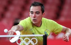 Tênis de mesa: Hugo Calderano mira em medalha em Paris