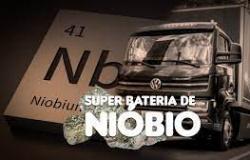 Super bateria de Nióbio brasileira deve revolucionar mercado de carga pesada