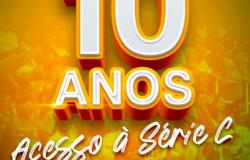 Cuiabá comemora 10 anos de acesso á Séria C