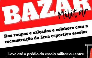 Escola Militar promoverá Bazar para reforma da quadra de vôlei