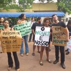 Manifestação no Hovet por mais segurança no campus - 18.02.2020