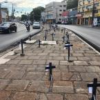 Ato presencial e virtual no centro de Cuiabá marca Dia Internacional da Enfermagem