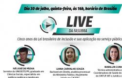 Lei Brasileira de Inclusão da Pessoa com Deficiência é o tema da live desta quinta-feira