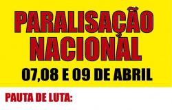 CARTAZ - Paralisação Nacional 07, 08 e 09 de abril 2015